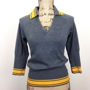 Converse Gray V Neck Sweater XS - N315